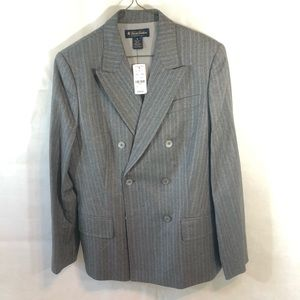 Brooks brothers Suit Top Blazer Gray size 10 Work
